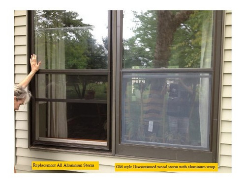 Semco double hung replacement storm /screen combination