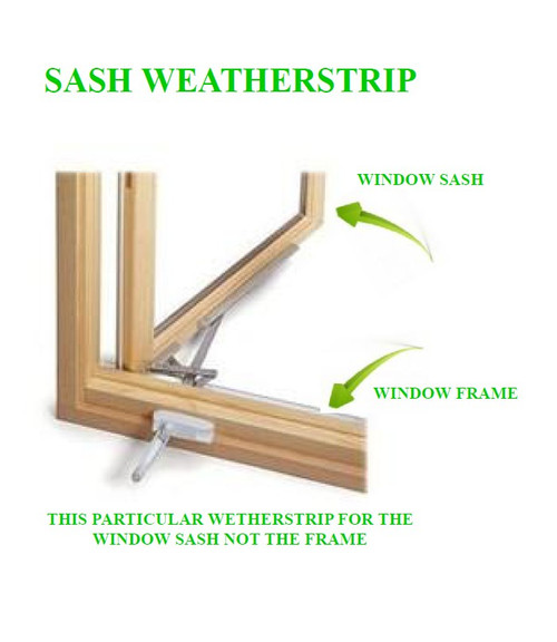 4-pack ( each pack has qty (4)  72'' pieces) of Windsor 2380891 casement/awning SASH weatherstrip