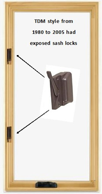 SEMCO REPLACEMENT SASH SIMULATED DIVIDED LIGHT ONLY 2-wide x 5-high: Fits 1988 to 2005: exposed sash locks. visible glass = 12 in wide x 54 1/4 in tall and actual sash size = 16 1/8 in w x  58 7/16 in high