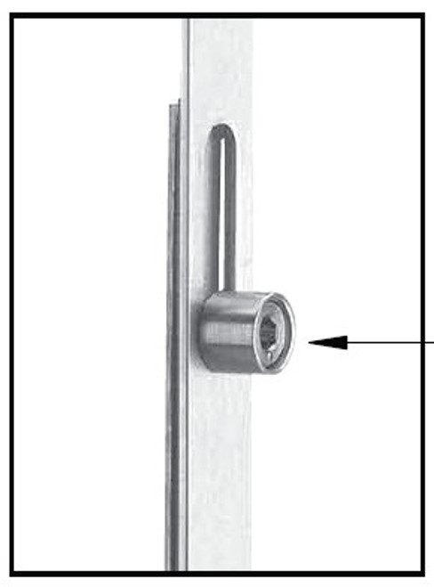 Hurd Replacement: 16mm automatic 2-roller gear with extension included for 81'' visible glass door