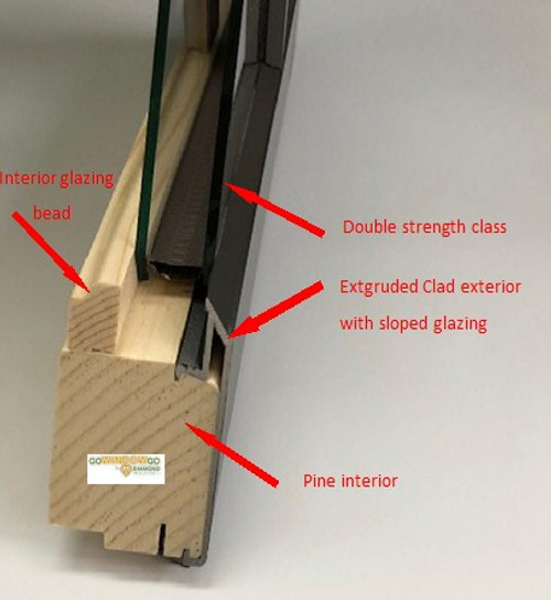 Marvin replacement sash to fit Marvin casemaster with exposed sash(cam)  locks from 1993-2003