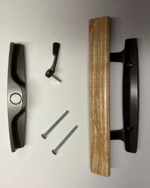 Windsor old style single point sliding door handle only