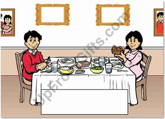 Family Dinner Couple Alone