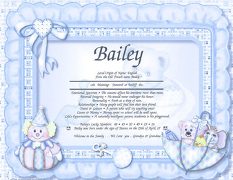 """Baby Boy  (Name Certificate Only) Print out  measures  8 1/2"""" x 11"""""""