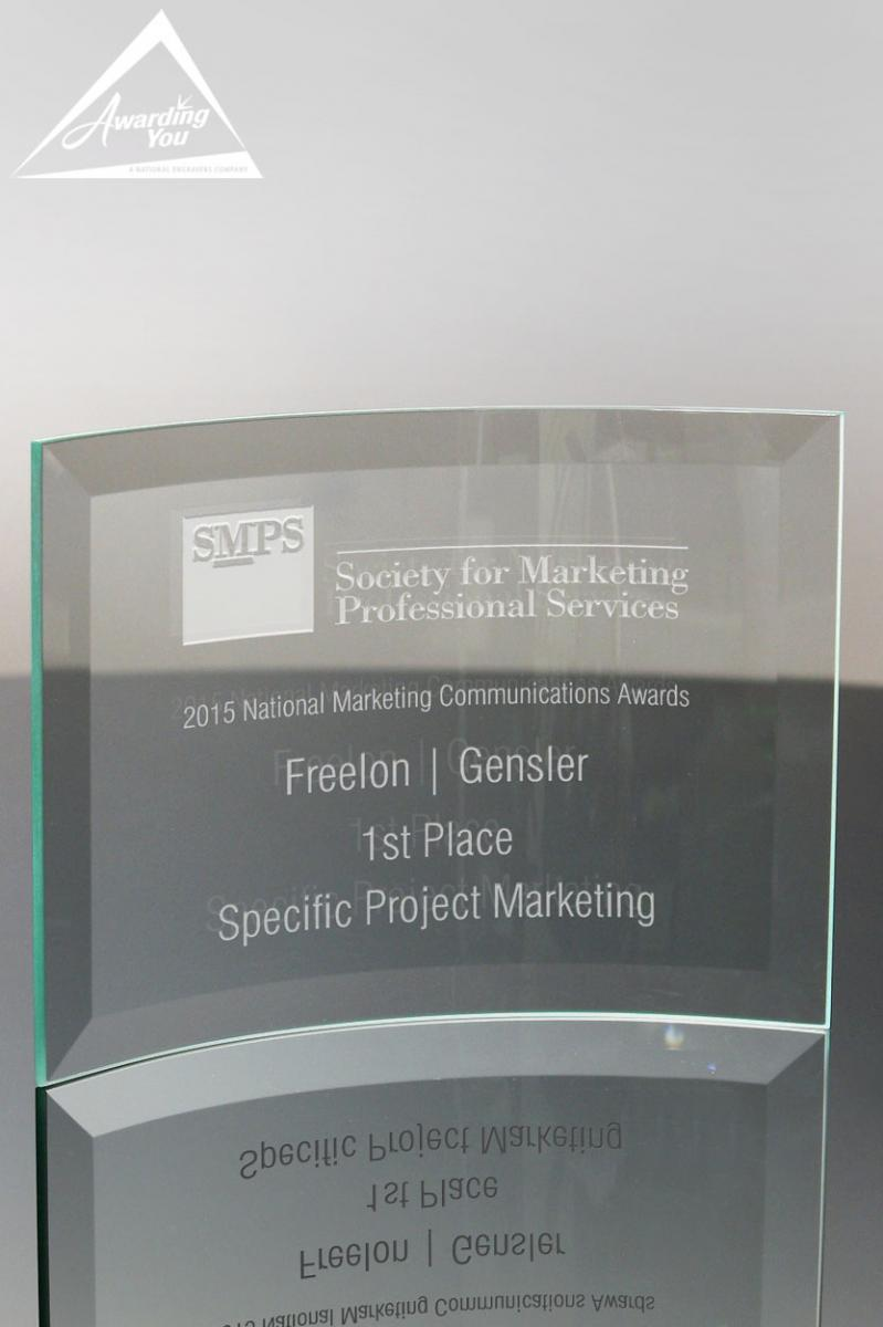 Display pieces such as this Crystal Award are great for recognizing wellness