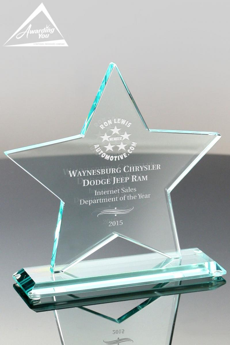 Star shaped awards are great for dealer recognition