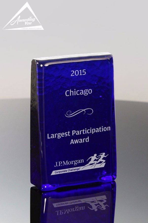 Recycled Glass Awards are perfect for recognizing sales attainment