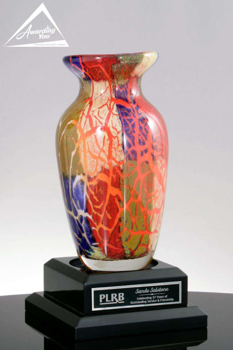 Art Glass Vases are a very popular choice to recognize project completion