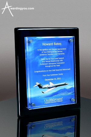 Executive Plaque Award - Full Color Award Example