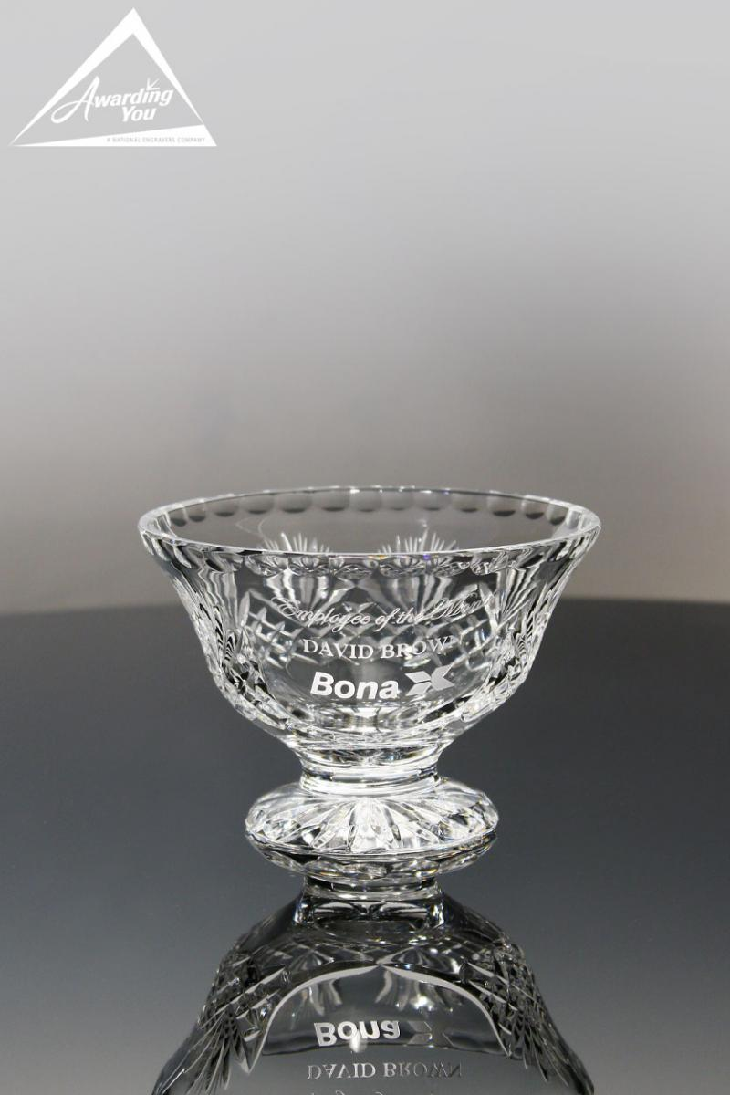 Engraved crystal Bowls and Vases are a popular retirement gift
