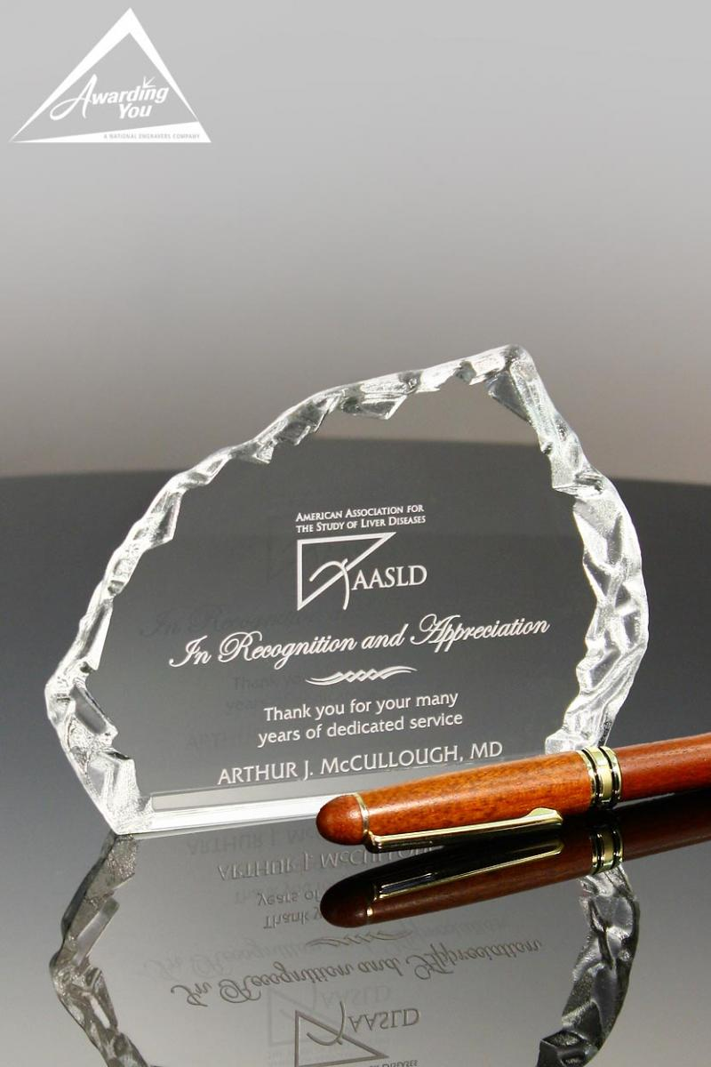 Engraved Crystal awards are an excellent way to recognize volunteers