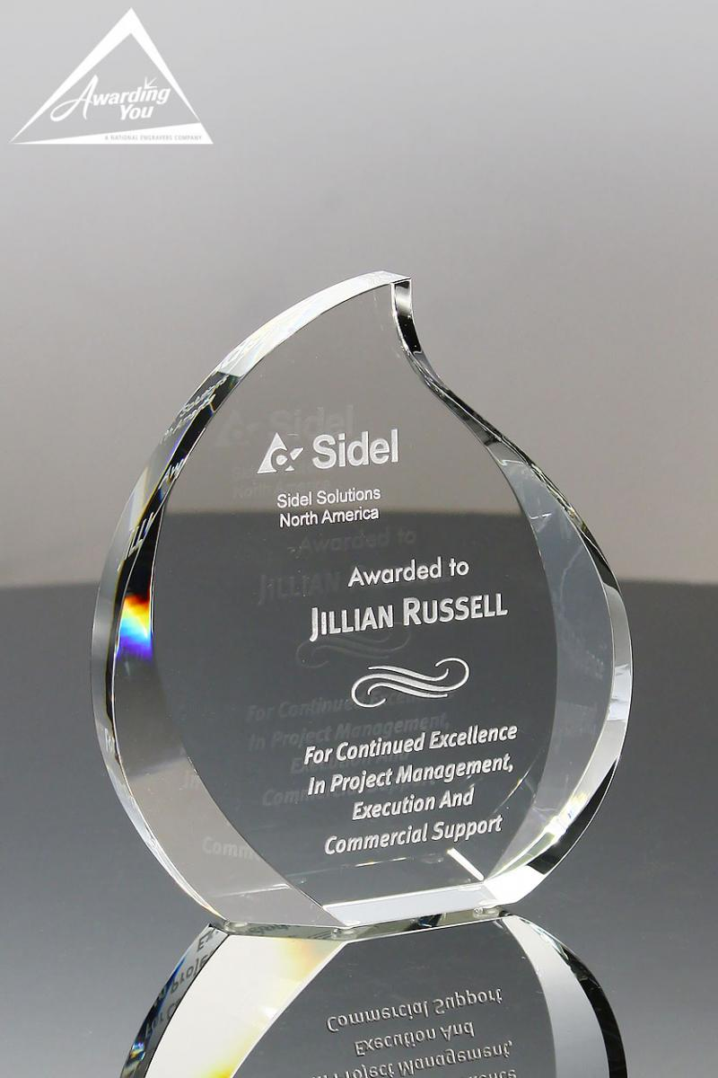 Use this Crystal Award for recognizing high quality