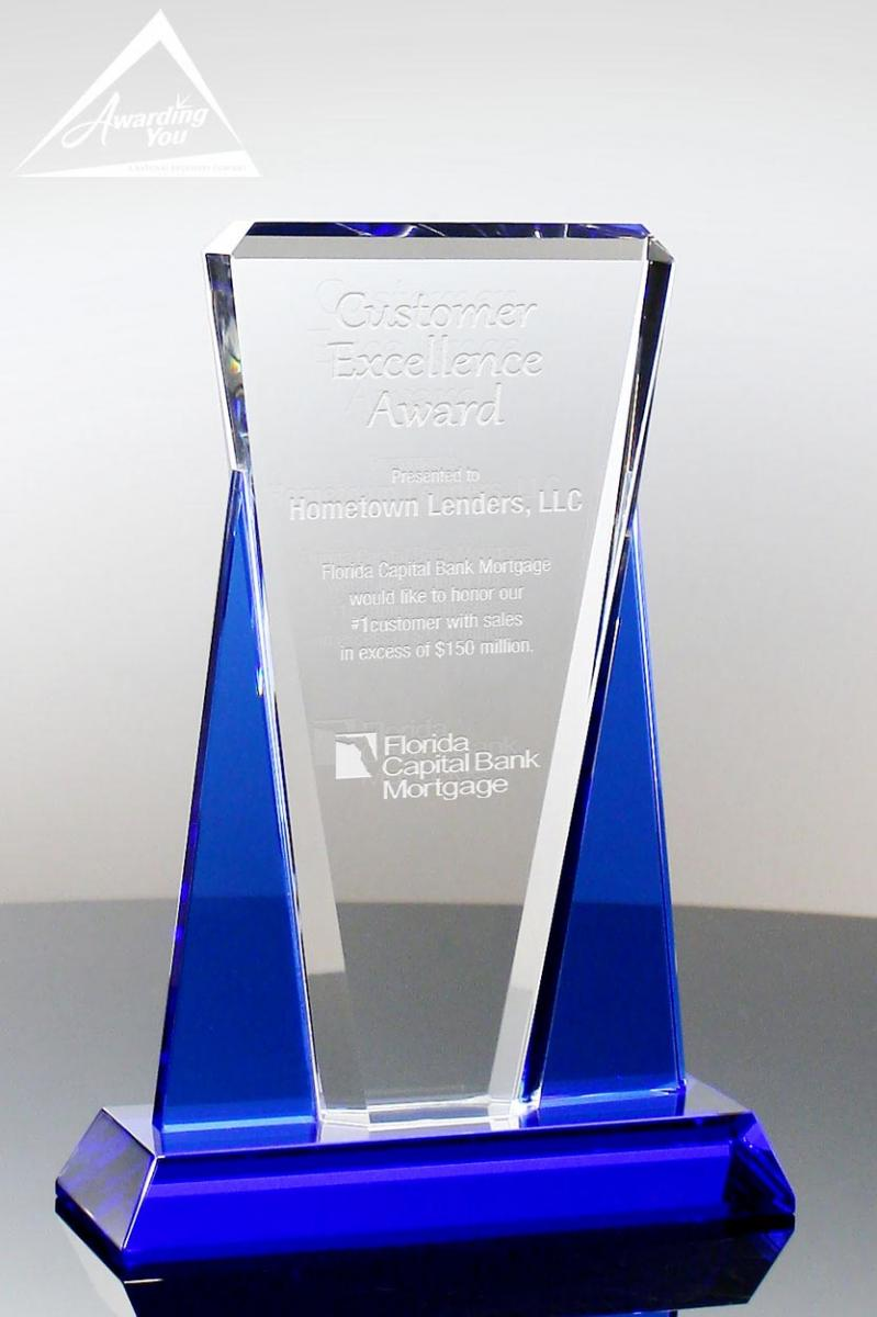 Recognize Philanthropic Efforts with engraved crystal awards