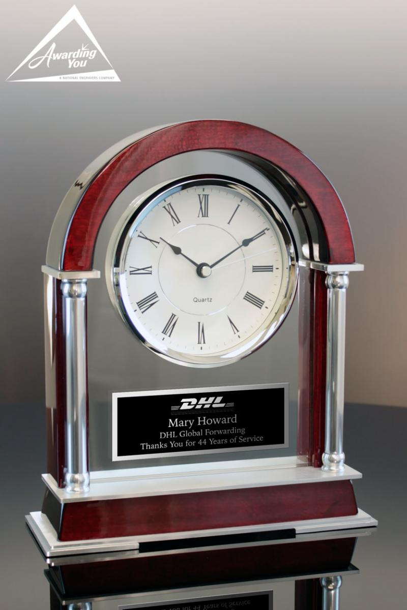 Engraved Clocks can commemorate philanthropic activities
