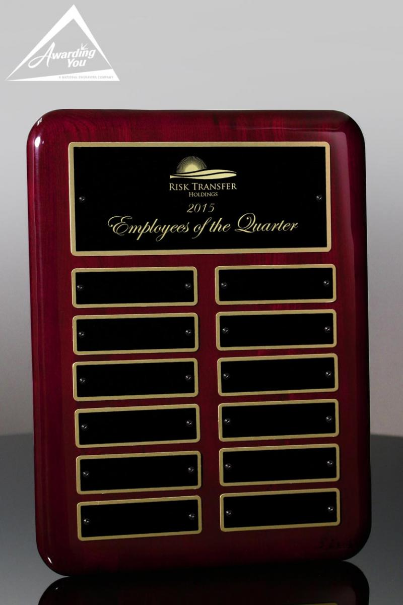 Perpetual Plaques are popular for teams and departments