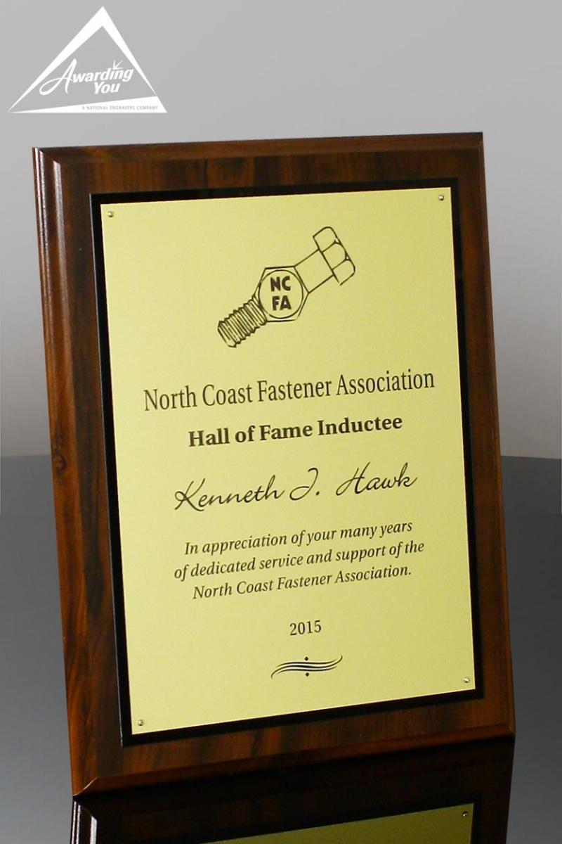 Engraved Plaques are a common safety recognition award