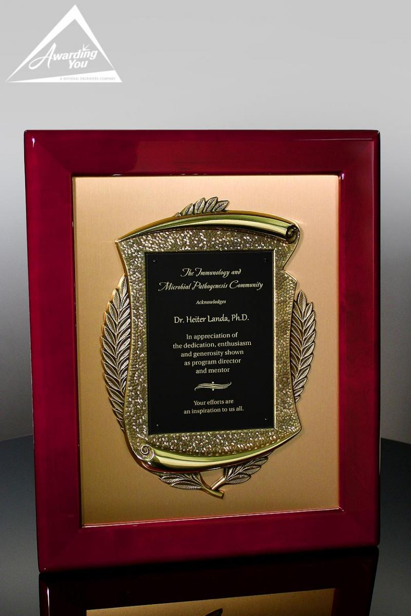 The bronze casting on this plaque makes this perfect for a retirement award