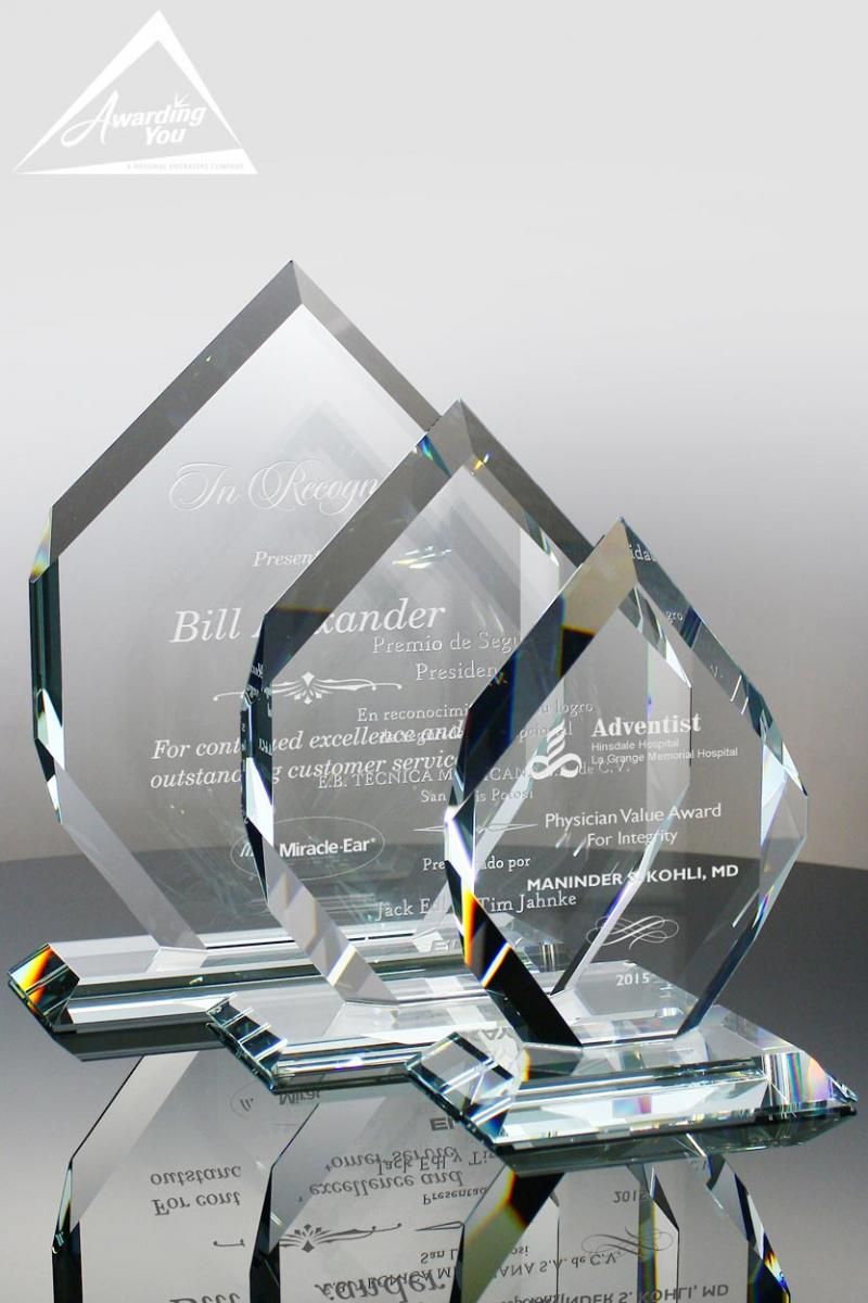 The Cartesian Crystal Awards are an excellent option for Attendance Recognition