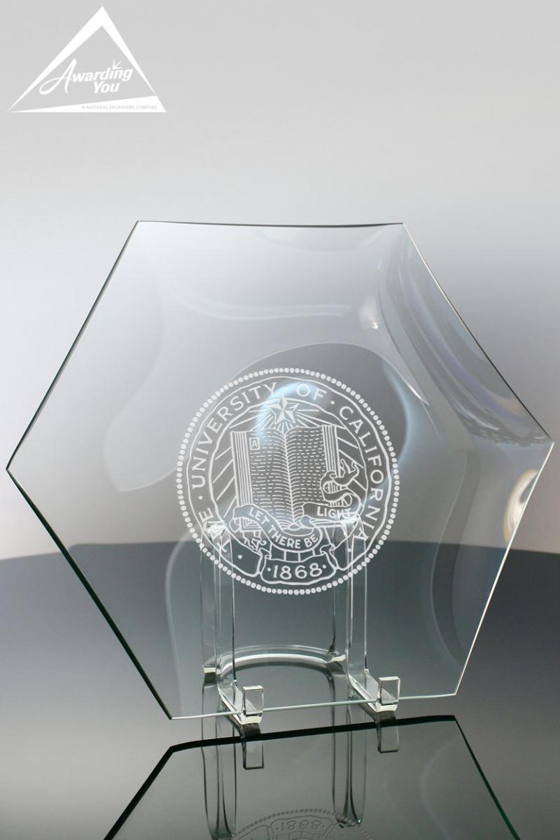 Recognize your top volunteers with an engraved glass gift