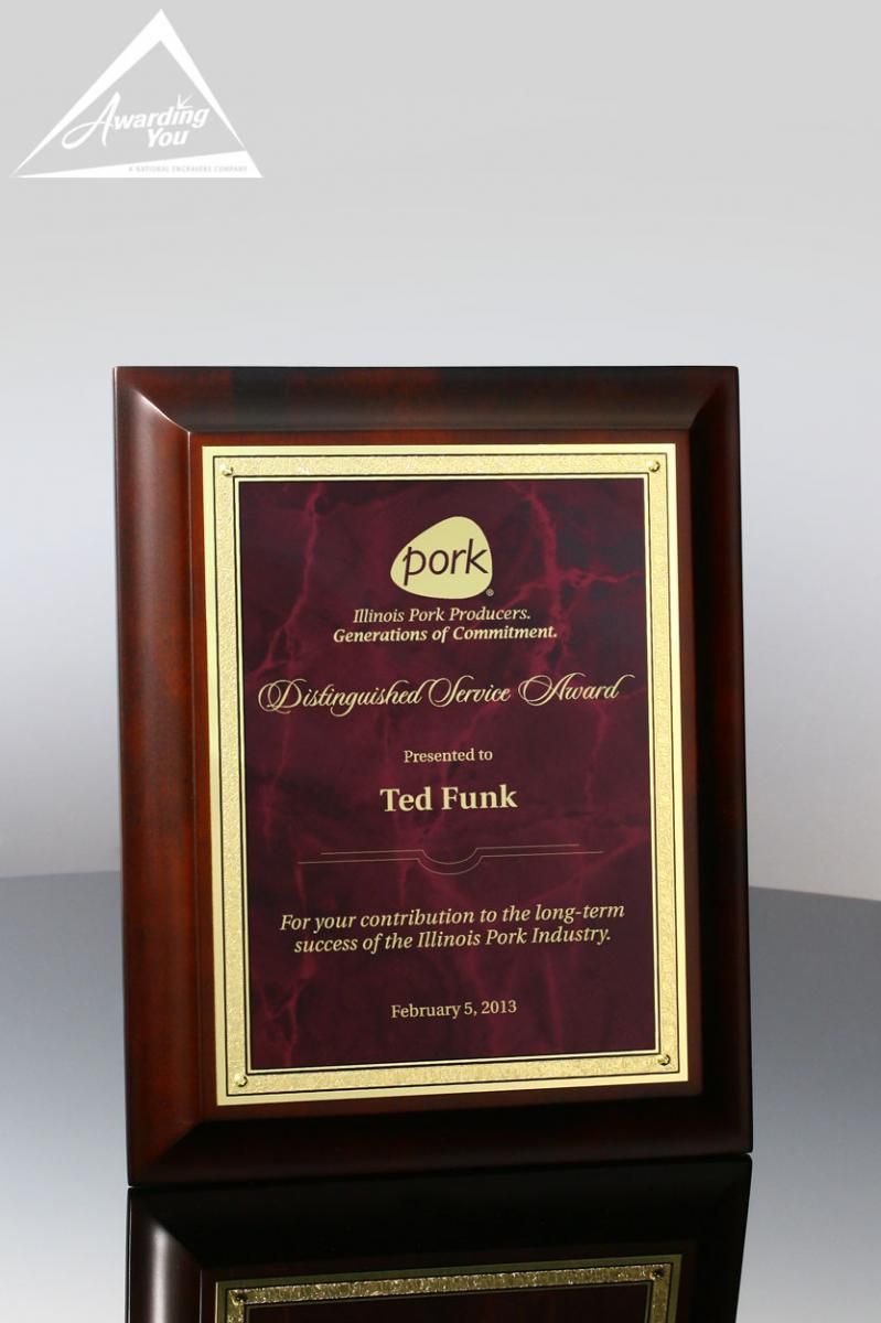 Engraved Plaques are a great way to recognize your top sales producers