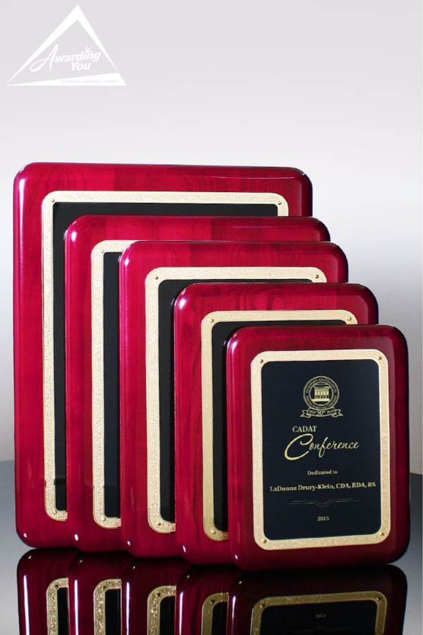 Bella Rosewood Plaques are a popular choice for customer service recognition