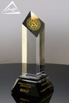 Allotrope Crystal Award Large Front View
