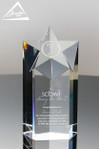 "Large 7"" Pro Star Crystal Award"