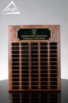 Custom Walnut Perpetual Plaque by Awarding You