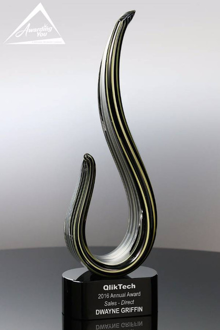 Parlance Art Glass Award Front View