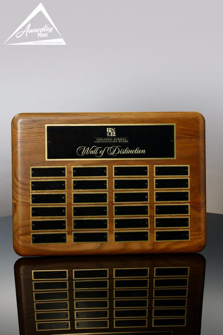 Wallace Walnut 11 x 15 Perpetual Plaque Front View