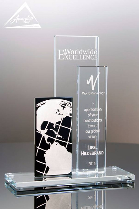 Tower Of Success Glass Award-Front View