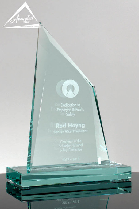 Prosperity Glass Donor Award 5067 Front View