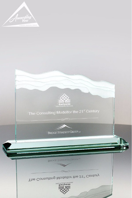 Torrent Glass Award Front View