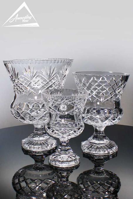 Vienna Crystal Trophy Vases