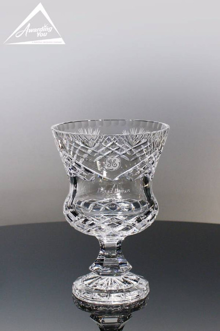 Vienna Crystal Trophy Vase Small Front View