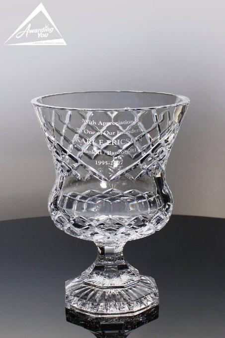 Vienna Crystal Trophy Vase Medium Front View