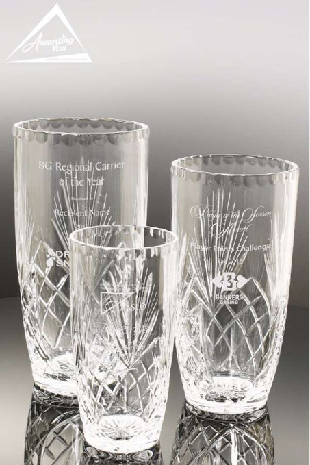 Remington Crystal Vases