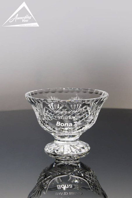 Allister Crystal Trophy Bowl Front View