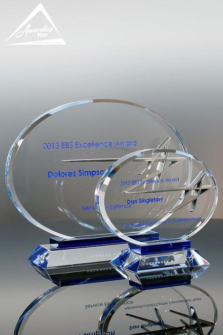 Custom Crystal Award by Awarding You Family View