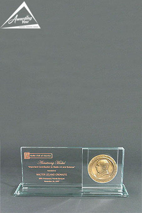 Coin Holder Glass Award by Awarding You