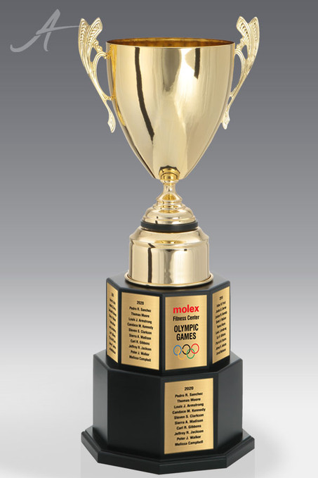 Challenger High Polished Gold Titanium Trophy Cup