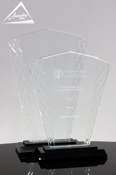 Lattice Glass Fan Award - Set of Awards