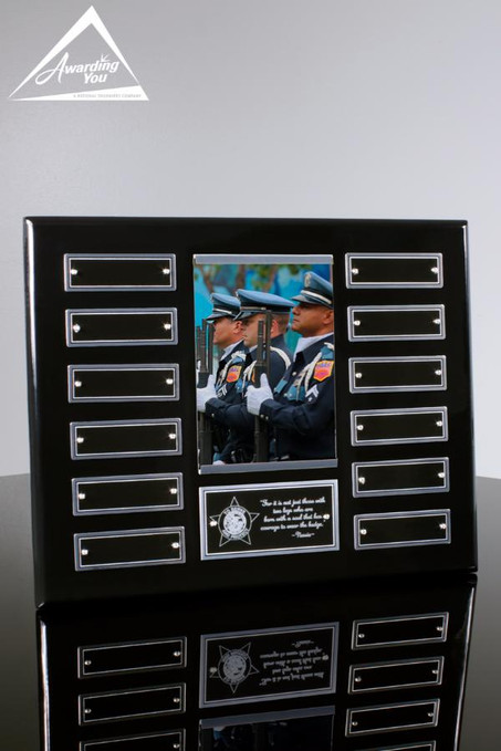 Parker Perpetual Plaque With Photo, Front View