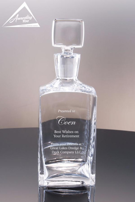 Connery Decanter 32oz. - Front View