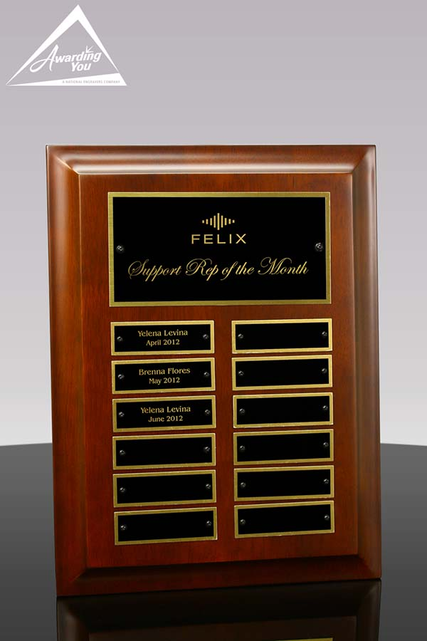 Montana Perpetual Plaque Front View