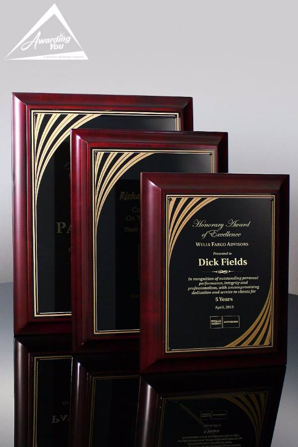 Rook Cherry Finish Plaques