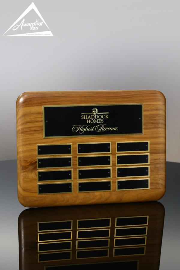 "Wallace Walnut Perpetual Plaque, 9"" X 12"""