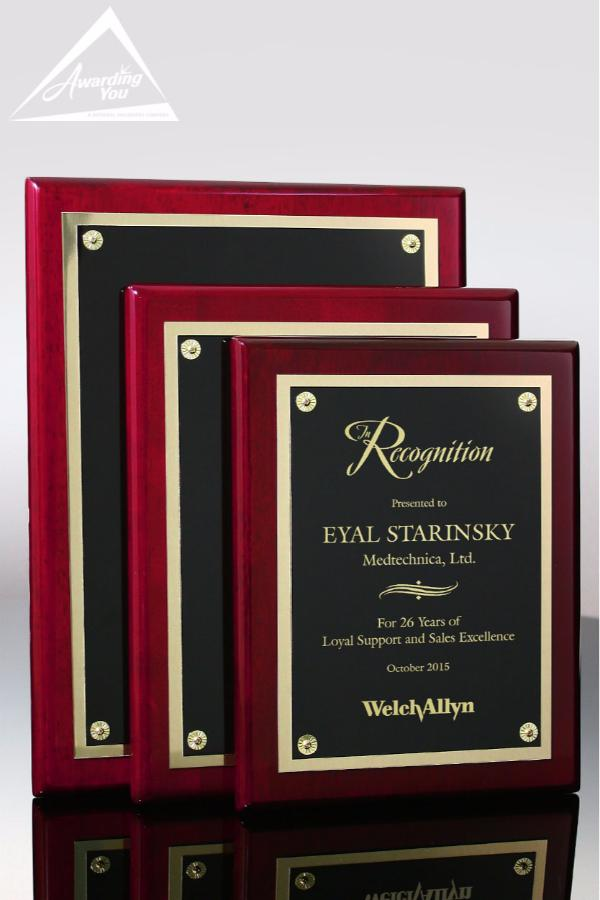Kenton Rosewood Award Plaque Family View
