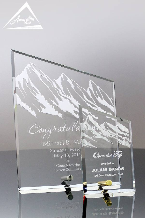 Slanted Quad Glass Award Family View
