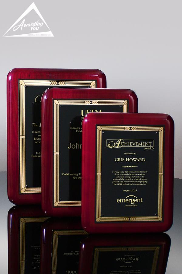 Griffin Rosewood Awards Plaques